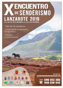 Cartel X Encuentro de Senderismo en Lanzarote